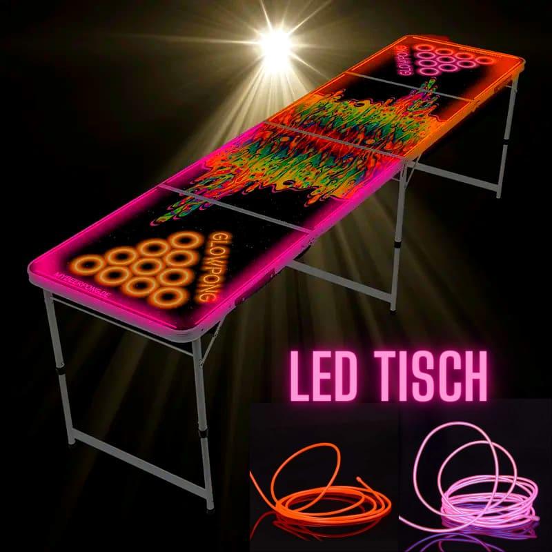 LED Space Lava BierPong Tisch